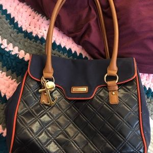 Genuine Tommy Hilfiger leather and material bag